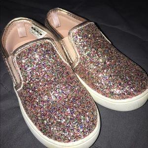 Toddler 10c glitter slip on shoes